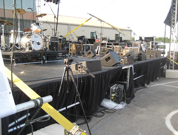 Concert stage rented from Big Ten Rentals.