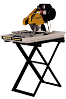 Rent our large tile wet saw with stand for less.