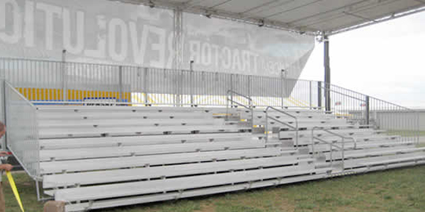 Bleachers with event structure over top.
