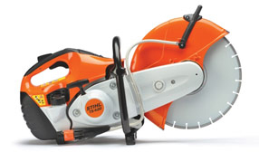 Rent our Cut-off gas powered concrete saw. (Photo may not match the actual model you rent.)