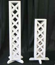 wedding lattice pillar large and small rental