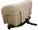 Swing out, Hitch mounted enclosed storage unit by StowAway2.
