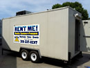 18' Trailerable commercial walk-in cooler/refrigerator.