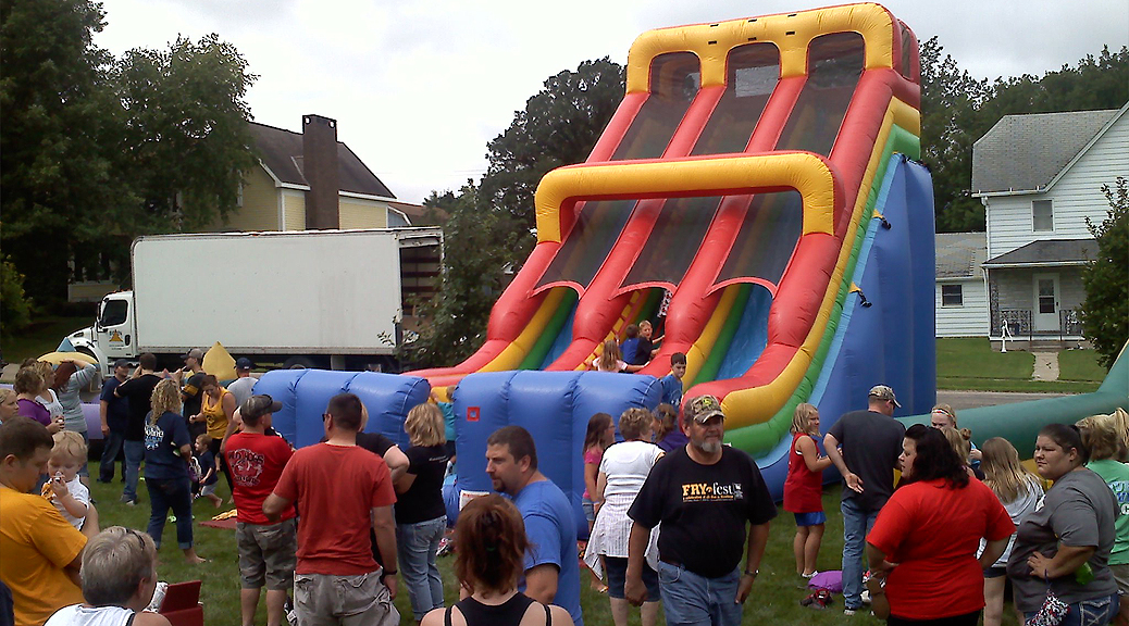 24 feet tall double lane inflatable slide rental