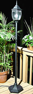 black-single-pole-lamp-rental