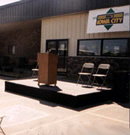 vip public speaking stage rental