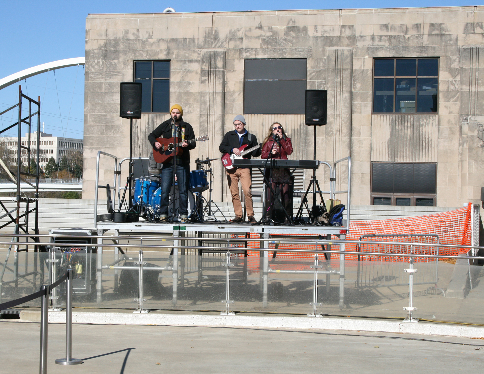 The Host Country band plays on our elevated band stage.