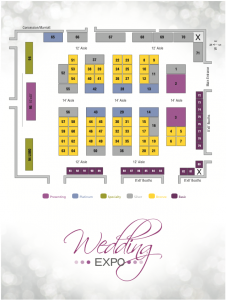 2015 Wedding Expo Booth Map for the Iowa Wedding Expo