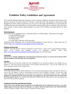 Exhibitor Policy Guidelines and Agreement