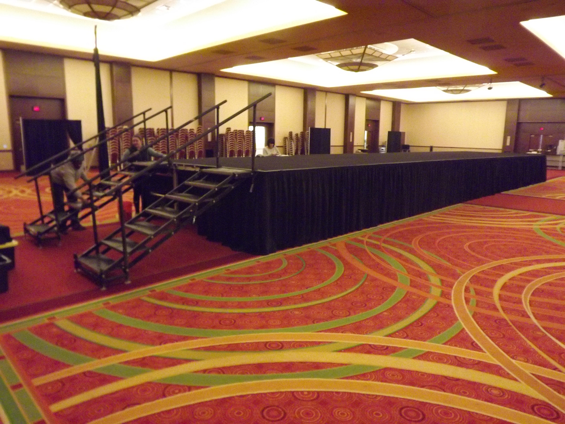 Stairs for Model Runway for Bridal Show