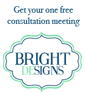 Don't forget to redeem your one free wedding consultation from Casey Kane at Bright DeSigns.