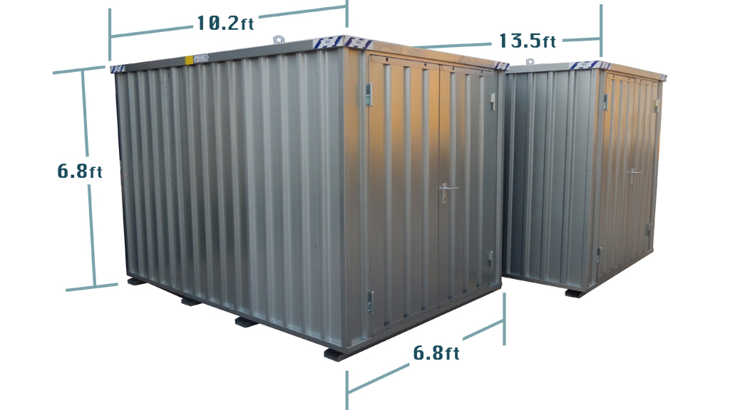 """Best Of Steel storage container portable temporary or long term """"Storage Container with doors"""""""
