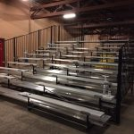 First set of 10-row expandable breakdown bleachers