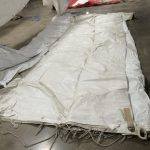 Used 40' x 100' white rope and pole tent 5-pc sectional.