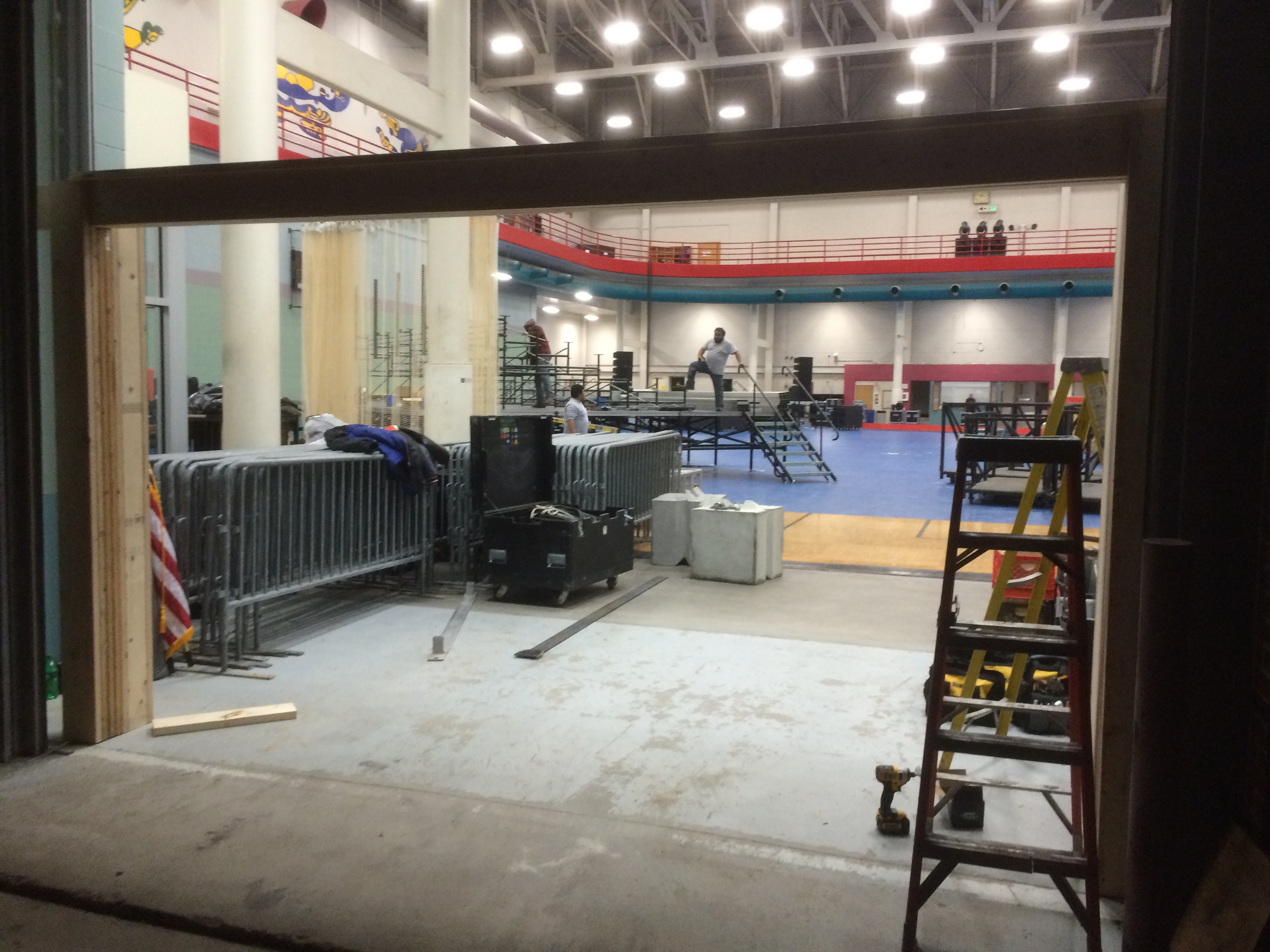 Frame for Temporary double glass door fire exits to increase event hall capacity