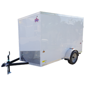6' x 10' white single axle enclosed trailer [sn2852] square
