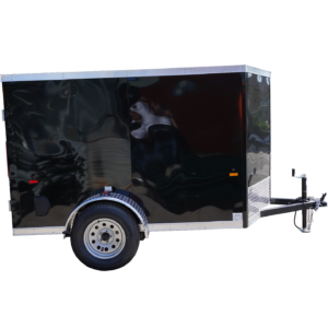 Right-side-of-5'-x-8'-black-single-axle-enclosed-trailer-[3055]-square