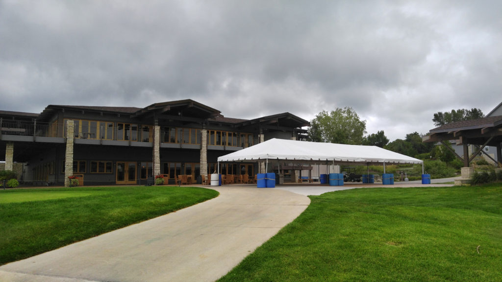 20' x 60' frame tent at Brown Deer Golf Club in Coralville, Iowa