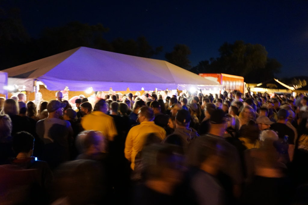 20' x 40' frame beer tent at FRYfest block party