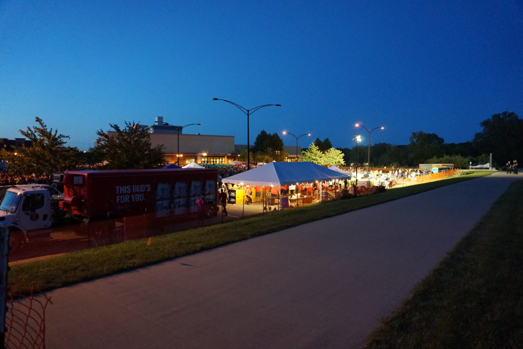 Back of 20' x 40' frame beer tent at FRYfest block party