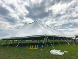 80' x 150' Twin Pole rope and pole tent by Big Ten Rentals