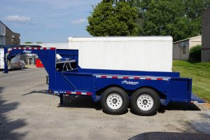 Side of Airtow Drop-Deck Trailer for rent in Iowa