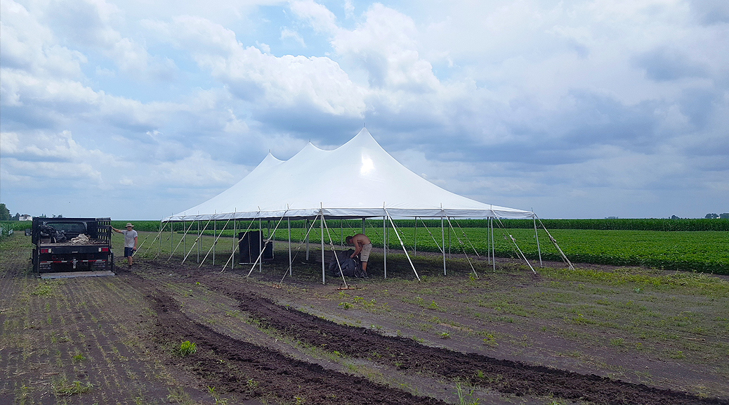 30' x 60' rope and pole tent Corporate Event Tent for WinField® United in Washington, Iowa header