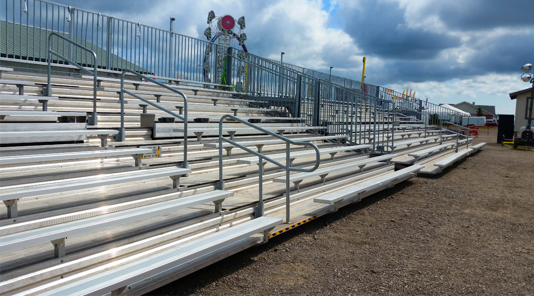 Fairground bleachers delivered and setup