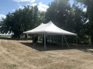 20' x 30 rope and pole tent for an outdoor corporate event