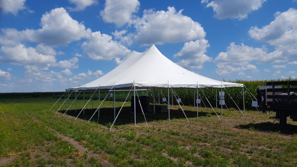 30' x 40' rope and pole tent for WinField® United Agriculture Solutions in Washington, Iowa