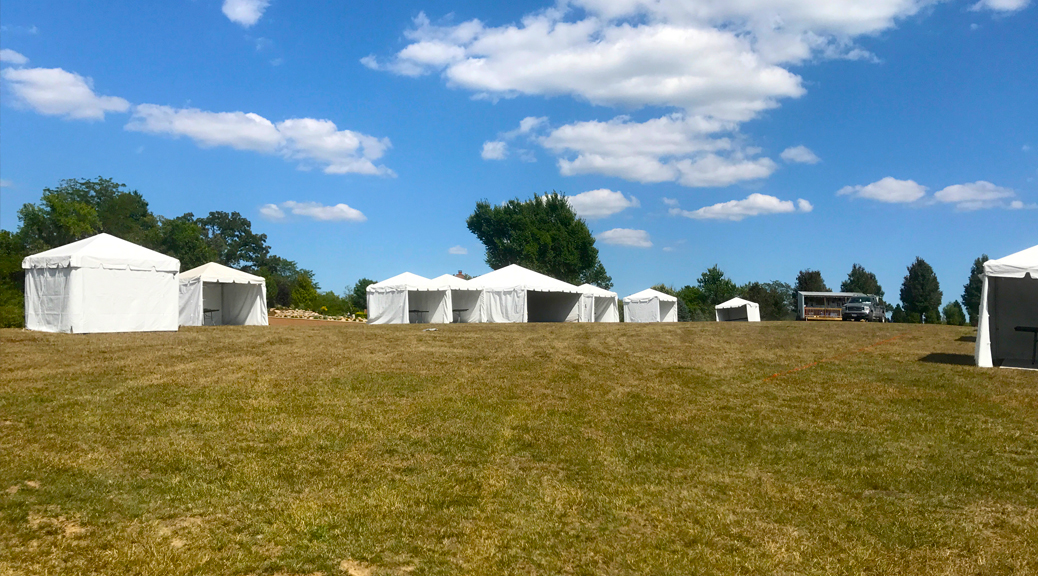 Outdoor corporate event setup for West Liberty foods in Libertyville, Iowa (header)