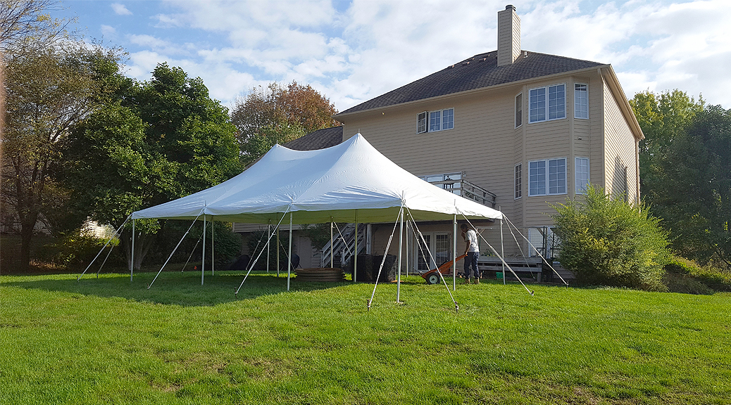 20' x 30' rope and pole tent in October