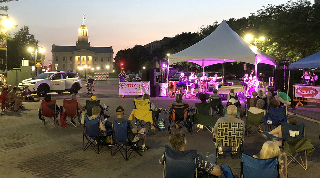 Toyota Music Event in Iowa City Downtown District by Old Capitol Museum