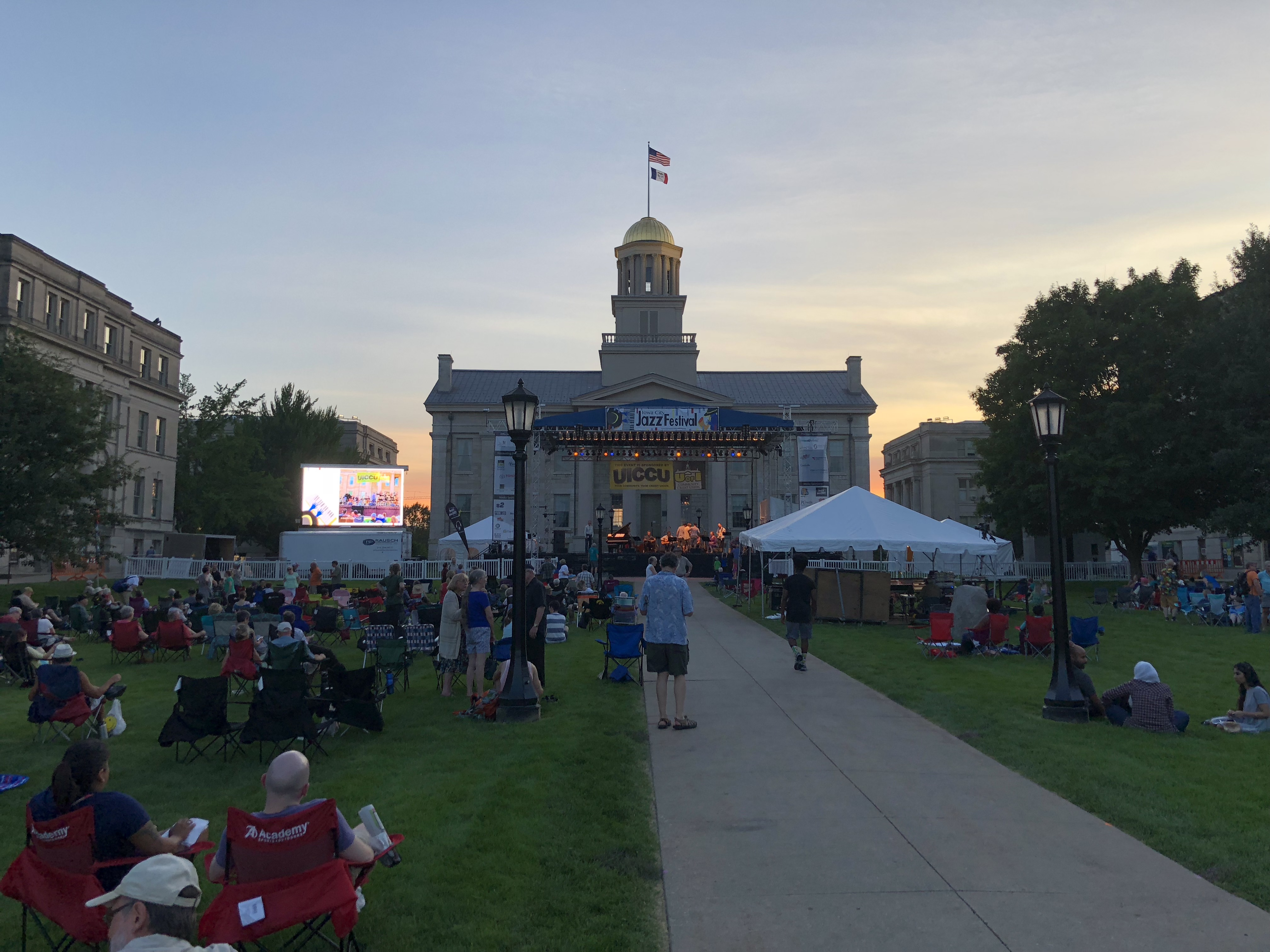 Main Stage at the 2018 Iowa City Jazz Festival Summer of the Arts