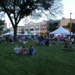 Tents at 2018 Iowa City Jazz Festival at Summer of the Arts in Iowa