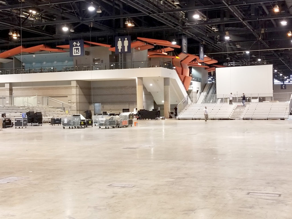 11 bleachers delivered in Chicago, Illinois for for United Soccer Coaches in Mccormick Place