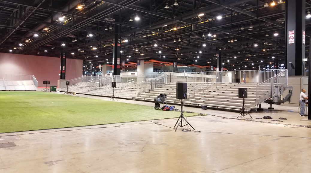 Bleachers for United Soccer Coaches in Mccormick Place in Chicago, Illinois