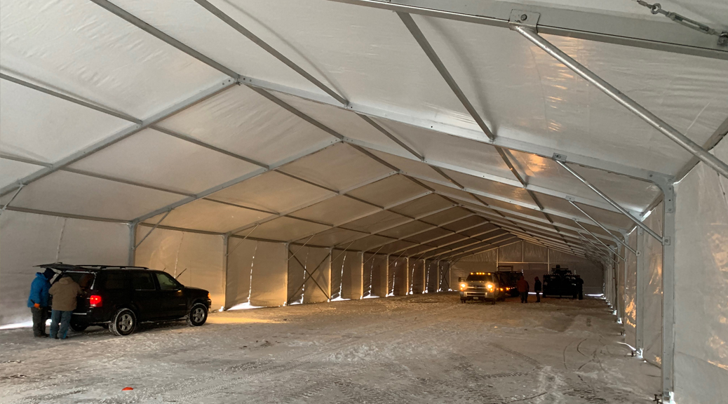 Temporary warehousing in Des Moines, Iowa. 30,500 sq ft of storage space