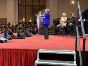 Amy Klobuchar at Teamsters Presidential Forum in December 7, 2019