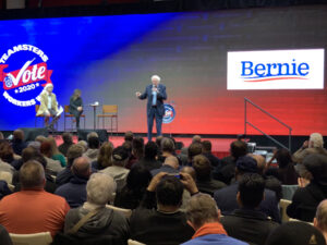 Bernie Sanders at Teamsters Presidential Forum in December 7, 2019