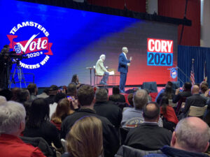 Cory Booker at Teamsters Presidential Forum in December 7, 2019