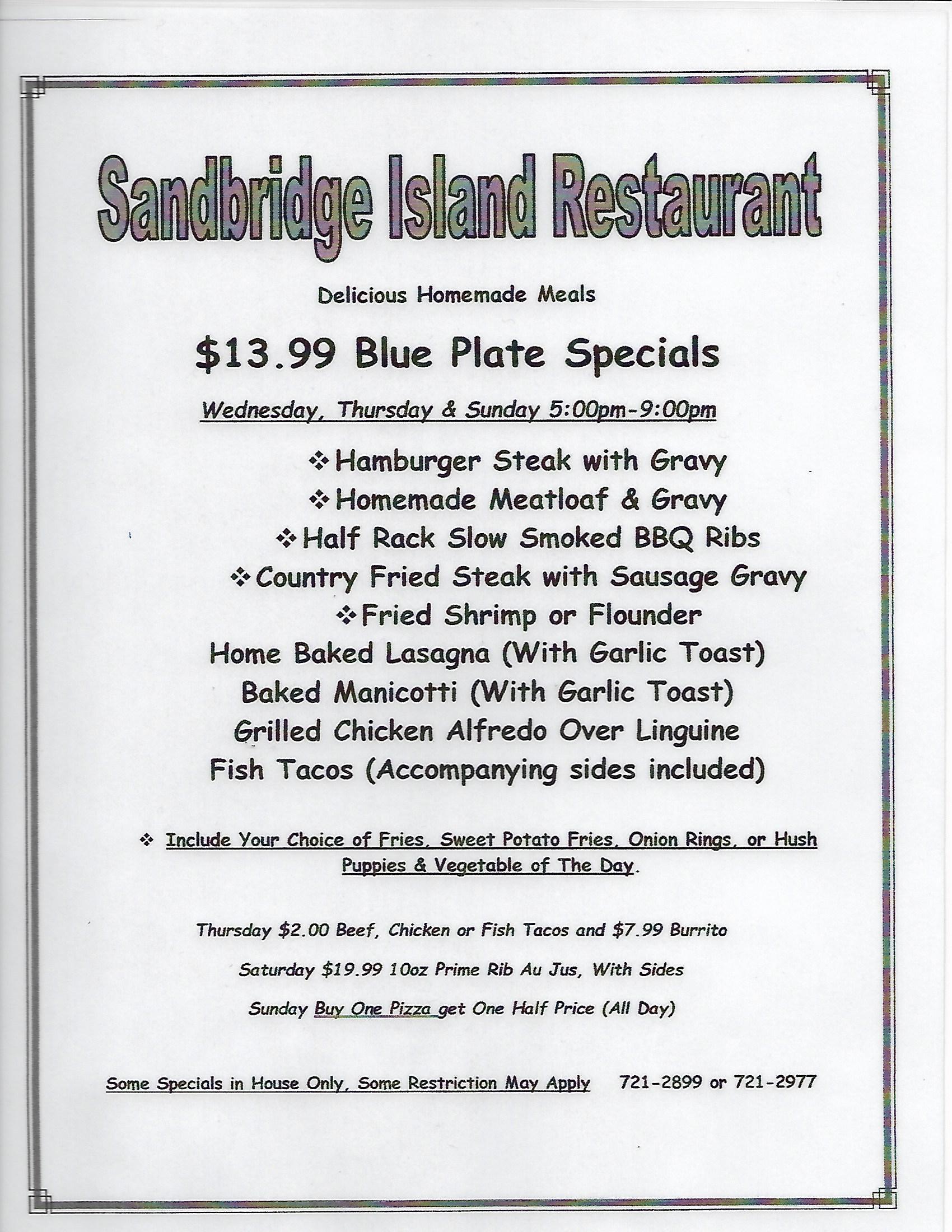 Blue Plate Specials 2021