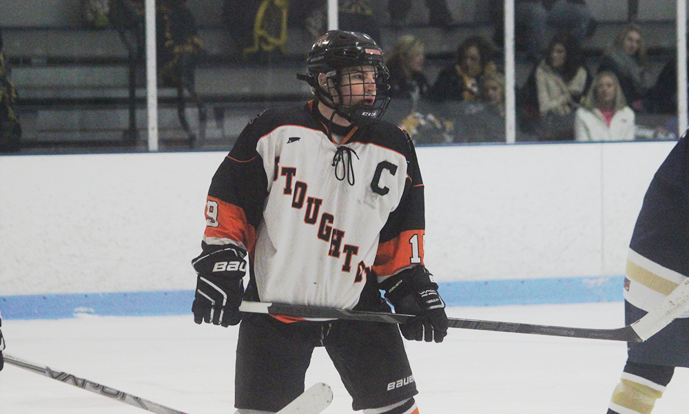 Stoughton's Mark Sheehan scored the game winning goal early in the third period. (Ryan Lanigan/HockomockSports.com)