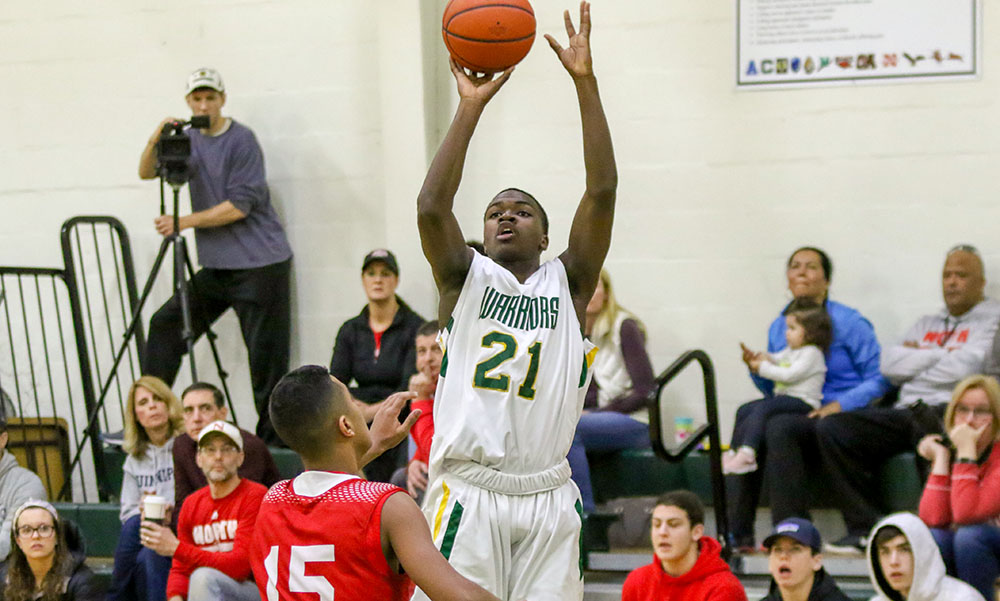 King Philip boys basketball Bruce Saintilus