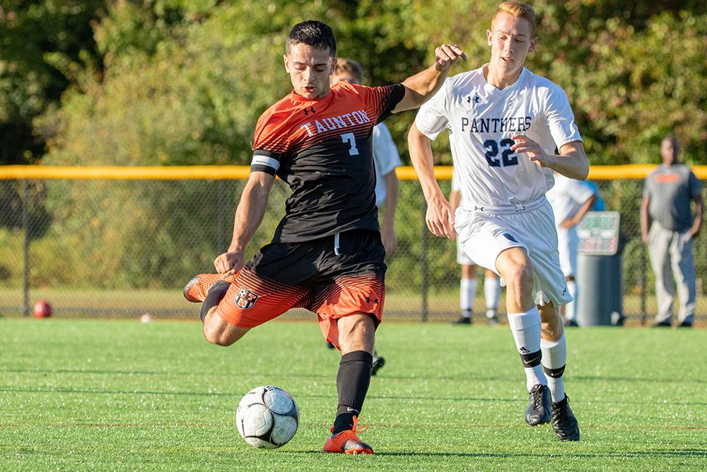 Taunton boys soccer Alec Nunes