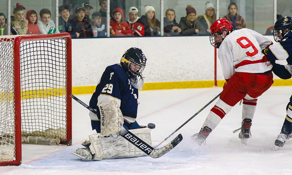 Foxboro North Attleboro boys hockey Espen Reager