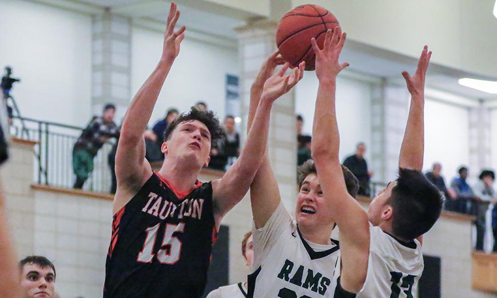 Taunton boys basketball Tyler Stewart