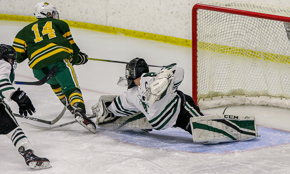 Mansfield King Philip boys hockey Sean McCafferty