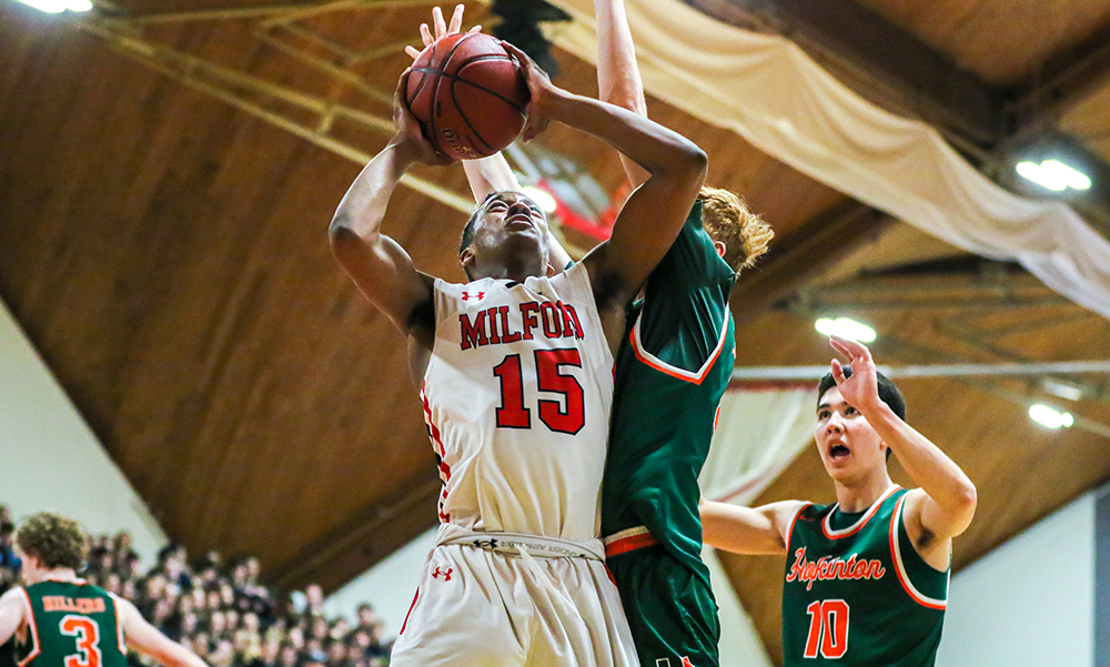 Milford boys basketball Jordan Darling