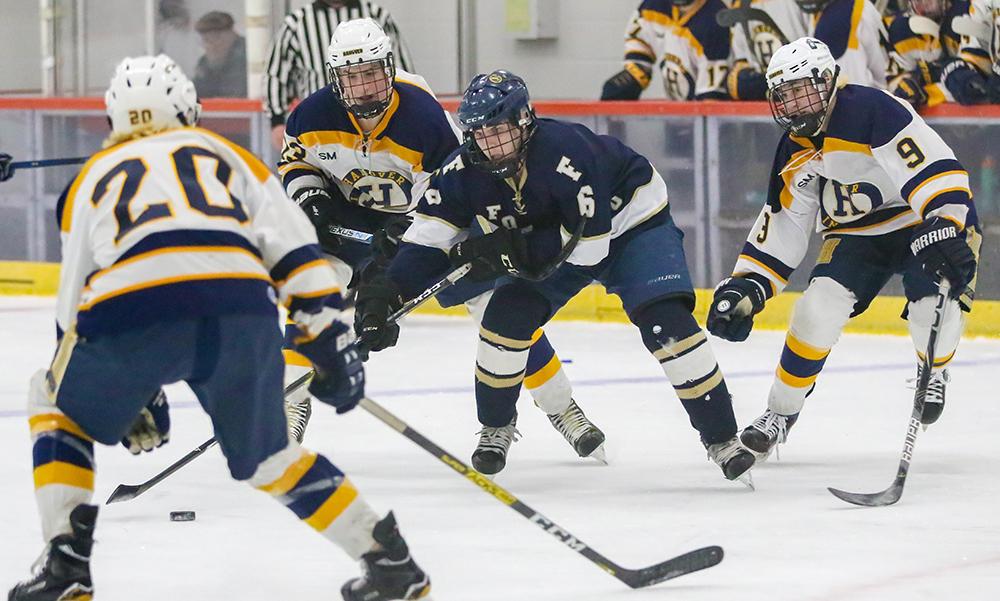 Foxboro boys hockey Kirk Leach
